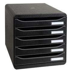 Ladenblok Exacompta Big Box Plus Classic PS A4 maxi 5 open laden zwart