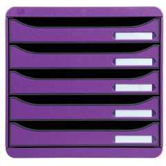 Ladenblok Exacompta Big-Box Plus Classic 5 laden violet
