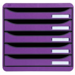 Ladenblok Exacompta Big Box Plus Classic PS A4 maxi 5 open laden violet