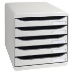Ladenblok Exacompta Big Box Plus Classic PS A4 maxi 5 open laden lichtgrijs
