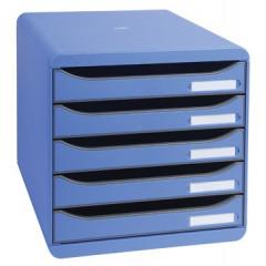 Ladenblok Exacompta Big Box Plus Classic PS A4 maxi 5 open laden ijsblauw