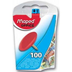 Punaise Maped 10mm assorti (100)