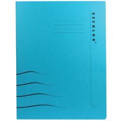 Hechtmap met clip Jalema secolor A4 karton blauw