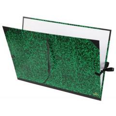 Tekenmap Canson classic 52x72cm met linten groen/zwart