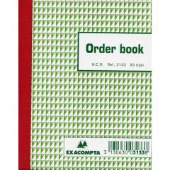 Orderboek Exacompta 13,5x10,5 3-voud gelijnd