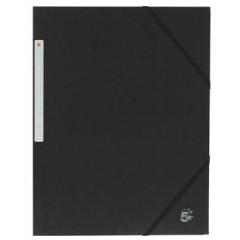 Elastomap 5 Star 3 kleppen A4 450gr zwart (10)