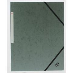 Elastomap 5 Star 3 kleppen A4 450gr grijs (10)