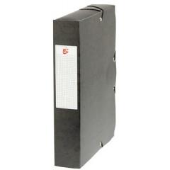 Elastobox Pergamy A4 karton 6cm zwart