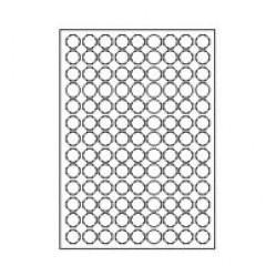 Etilascop 117 etik/blad Ø 20 100bl/d