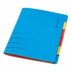 Sorteermap Jalema secolor sixtab A4 karton 6-vaks blauw