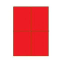 "Jetlascop ""25"" 04 etik/blad 105x148.5 rood"