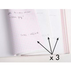 Orderbook NCR geruit 210x148 tripli