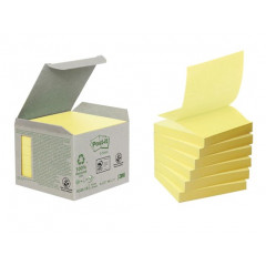 Z-Notes Post-it Recycled 76x76mm geel (6)