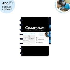 Schrift Correctbook A5 gelijnd herbruikbaar zwart