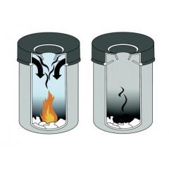 Vuilnisbak Durable Safe+ met vlamdover 60l grijs