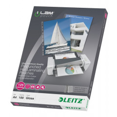 Lamineerhoes Leitz iLam A4 125 micron met perforatierand glanzend (100)