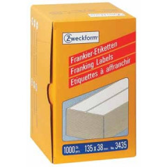 Frankeeretiket Avery 135x38mm wit (1000)