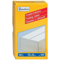 Frankeeretiket Avery 138x48mm wit (500)