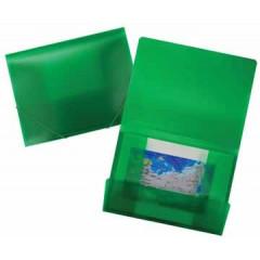 Elastomap Beautone 3 kleppen PP A4 frosted groen