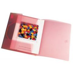 Elastomap Beautone 3 kleppen PP A4 rood transparant