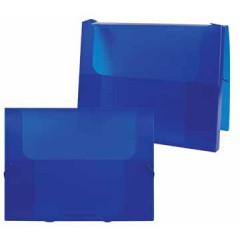 Elastobox Beautone PP A4 2,5cm transparant blauw