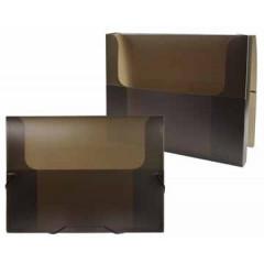 Elastobox Beautone PP A4 2,5cm transparant zwart