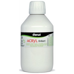Acrylverf Darwi glanzend 250ml wit