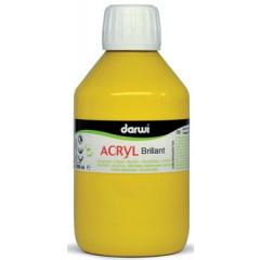 Acrylverf Darwi glanzend 250ml donker geel