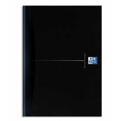 Notitieboek Oxford Office Smart Black karton A4 gelijnd 192blz