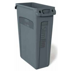 Afvalcontainer Rubbermaid Slim Jim 87l grijs