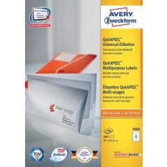 Etiket Avery Universeel 08 etik/bl 97x67,7mm wit (100)