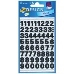 Etiketvel Avery Z-design Home cijfers 9,5mm weer- en waterbestendig klein zwart (2)