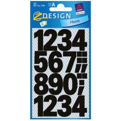 Etiketvel Avery Z-design Home cijfers 25mm weer- en waterbestendig groot zwart (2)