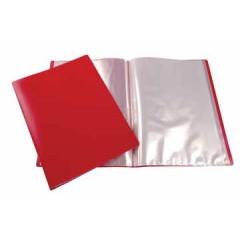 Showalbum Beautone PP A4 10 tassen soepele cover rood