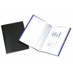 Showalbum Beautone PP A4 10 tassen soepele cover blauw