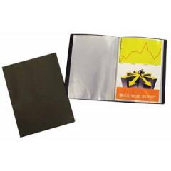 Showalbum Beautone PP A4 10 tassen soepele cover zwart