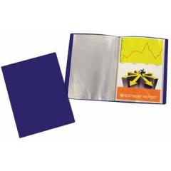 Showalbum Beautone PP A4 20 tassen soepele cover blauw