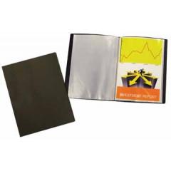 Showalbum Beautone PP A4 20 tassen soepele cover zwart