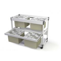 Hangmappentrolley Durable 200 Multi Duo grijs