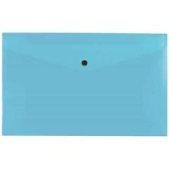 Documentmap Beautone A4 met drukknop blauw