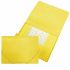 Elastomap Beautone 3 kleppen PP A4 geel