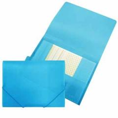 Elastomap Beautone 3 kleppen PP A4 blauw
