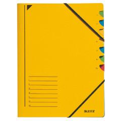 Sorteermap Leitz karton A4 7-vaks geel