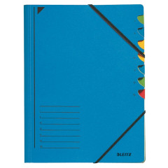 Sorteermap Leitz karton A4 7-vaks blauw