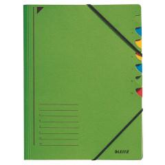 Sorteermap Leitz karton A4 7-vaks groen