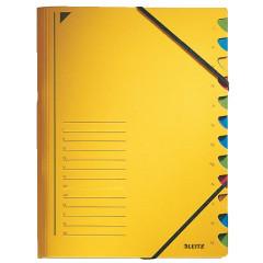 Sorteermap Leitz karton A4 12-vaks geel (3912015)