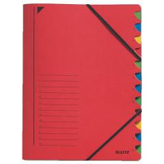 Sorteermap Leitz karton A4 12-vaks rood (3912025)
