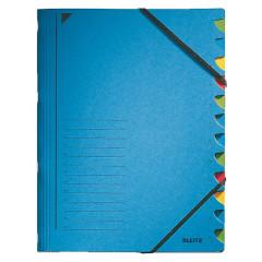 Sorteermap Leitz karton A4 12-vaks blauw (3912035)