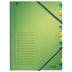 Sorteermap Leitz karton A4 12-vaks groen