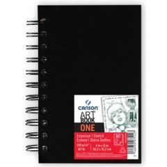 Schetsboek Canson 10,2x15,2cm 100gr 80vel zwarte kaft
